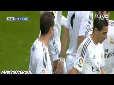 Gareth Bale Amazing Goal ~ Real Madrid vs Elche 2-0 ~ (22/02/2014)