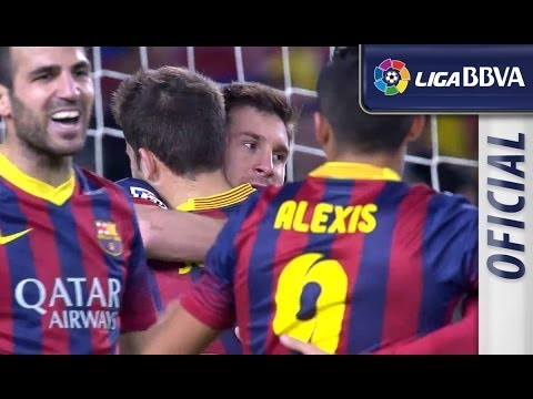 Resumen de FC Barcelona (3-0) Málaga CF – HD – Highlights