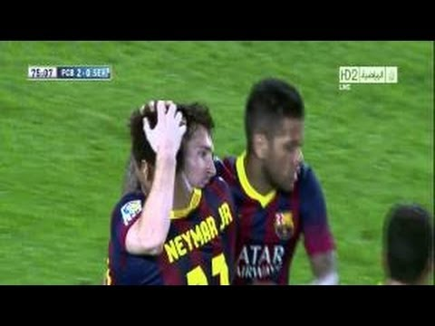 FC Barcelona Vs Sevilla 3-2 2013 Goals & Highlights (14-9-2013) HD